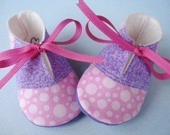 SALE - PDF ePATTERN - Saddle Shoes and Plain Shoes for Baby