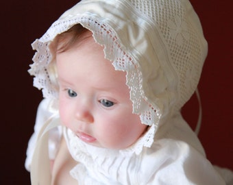 Bonnet Sewing Pattern - PDF e-Pattern for an Adjustable Knot Bonnet for Babies