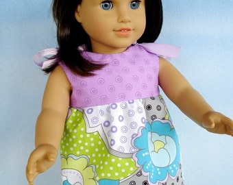 Sewing Pattern for 18 Inch American Girl Doll Clothes - Dresses - Four Styles -  PDF e-Pattern