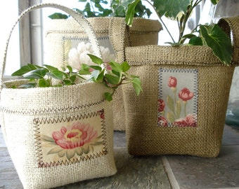 Container Sewing Pattern for Burlap Clay Pot Covers - PDF ePattern