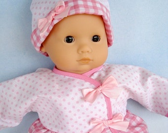 Baby Doll Clothing Sewing Pattern -  Wrap Dress - Shirt, Pants and Knot Hat 15 Inch to 16 Inch Dolls - PDF e-Pattern