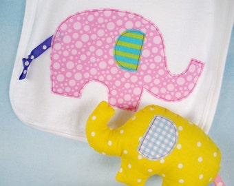 SALE - PDF ePATTERN for Elephant Softie in Three Sizes and Applique
