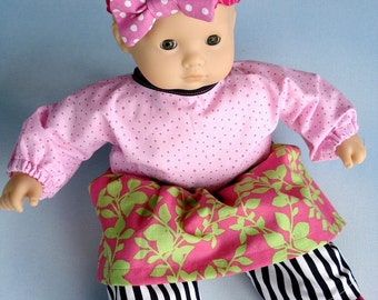 SALE - PDF e-Pattern - Baby Doll Outfits for Girls and Boys - 15 Inch to 16 Inch Dolls