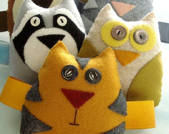 Felt Forest Critters Toy Sewing Pattern - PDF ePATTERN