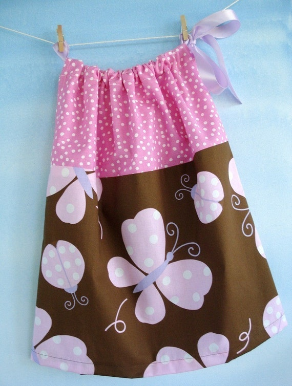 Dress Sewing Pattern - PDF e-Pattern for a Simple Pillowcase Dress - 7 sizes - 6 months to 6 years