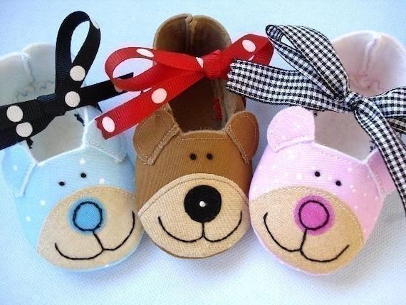 Bear Baby Booties - Shoes Sewing Pattern - PDF ePattern