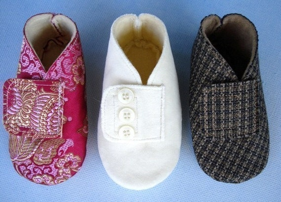 Precious Vintage Style Booties - Shoes with Velcro Tabs - PDF e-Pattern Sewing