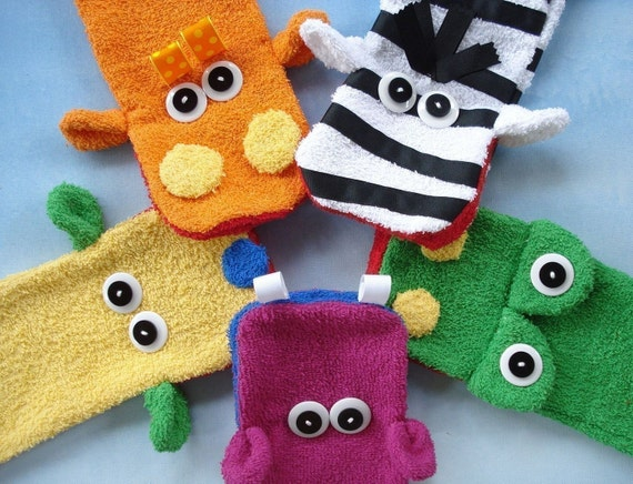 Toy Sewing Pattern For Wash Cloth Hand Puppets Pdf E