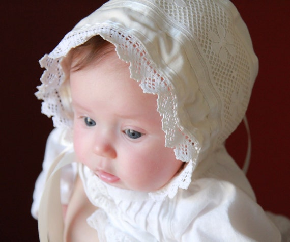 Bonnet Sewing Pattern - PDF e-Pattern for an Adjustable Knot Bonnet for Babies