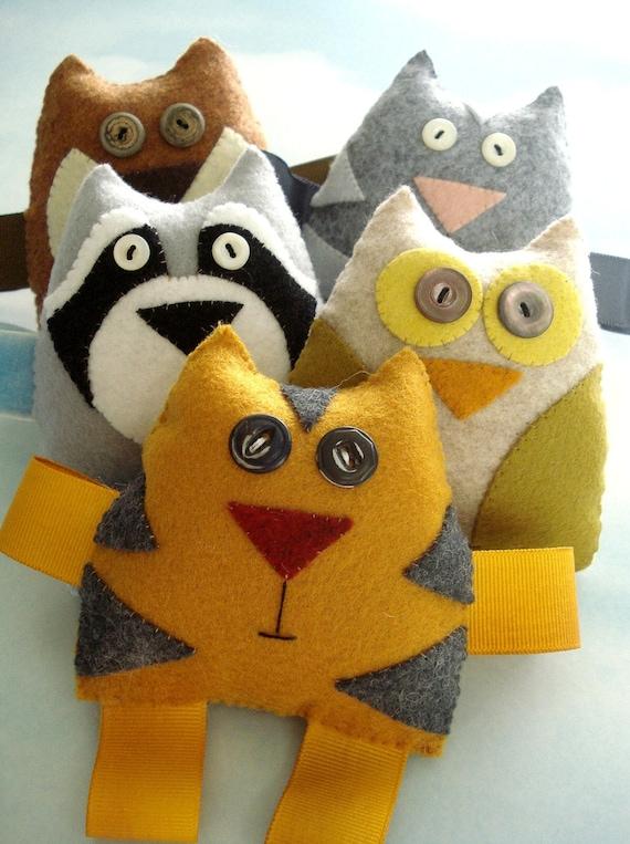 Felt Forest Critters Toy Sewing Pattern - PDF ePATTERN