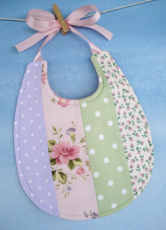 Baby Bib Sewing Pattern Pretty Pieced Bib with Ribbon Ties
