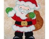 Zenware Standing Santa machine applique embroidery design 4x4 or 5x7 hoop Christmas Santa