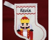 Nutcracker Christmas stocking-embroidery machine design-completely sewn by machine