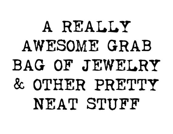Clearance Grab Bag Sale of Jewelry & Other Pretty Neat Stuff, Earrings, Pins, Necklaces, Scrapbooking