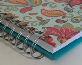 Daily Food Journal-Great for Tracking Weight Watchers Points with Turquoise, Paisley & Floral Cover