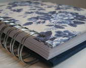 Address Book Includes Replacement Labels with Blue & Cream Rose Floral Cover