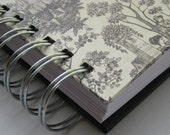 Weekly Organizer-Planner-Agenda includes Address Book with Black & White Toile Cover