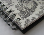 Internet Password Log with Black on White Toile Cover
