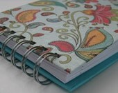 Password Book/ Password Log/ Password Organizer/ Password Keeper/ Password Journal/ Internet Password/  Turquoise, Paisley, Floral Cover