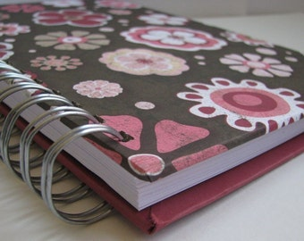Devotional Journal/ Daily Devotion/ Bible Notebook/ Bible Verse Journal/ Prayer Journal/ Bible Memory/ Morning Devotions/ Brown Pink  Floral