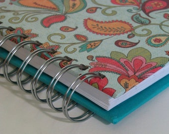 Food Journal - Diet Journal - Daily Food Journal - Weight Watchers - Food Log - Weight Watchers Journal - Food Tracker - Turquoise Paisley