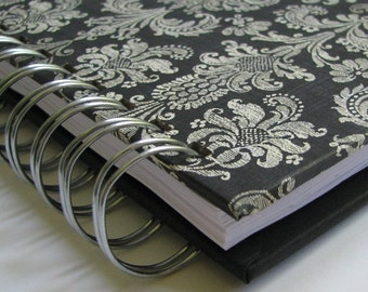 Diet Journal/ Food Journal/ Daily Food Journal/ Weight Watchers/ Food Log/ Weight Watchers Journal/ Food Tracker/ Exercise Log/ Black Damask
