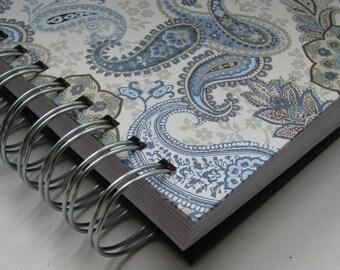 Bible Notebook/ Devotional Journal/ Daily Devotion/ Bible Verse Journal/ Prayer Journal/ Bible Memory/ Morning Devotions/ Blue Black Paisley