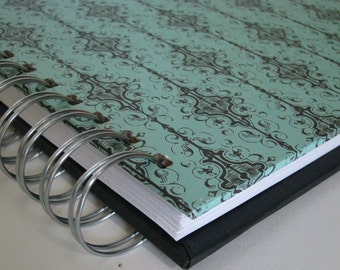 Sermon Journal/ Sermon Notebook/ Church Notebook/ Bible Notebook/ Bible Journal/ Sermon Notes/ Journal/ Christian Gift/ Turquoise Damask