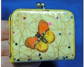 Small 1950's Womens Change Purse Butterfly