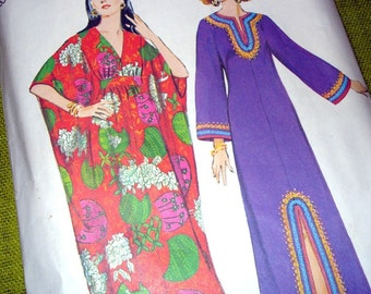 Vintage Sewing Pattern - CAFTAN Maxi Dress - Simplicity 5315 / Size 12-14