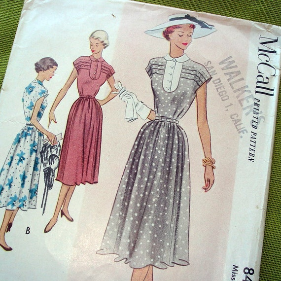 1951 Vintage Sewing Pattern -McCall 8469- Dress  - Size  20 - UNCUT