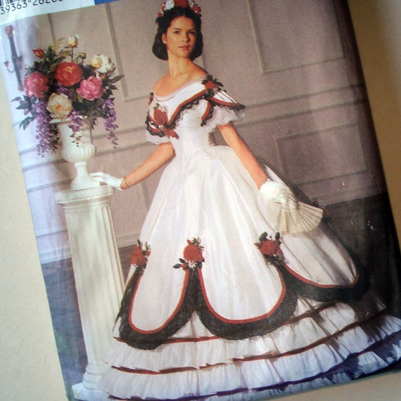 Simplicity Fashion Historian Pattern 5724 - Martha McCain Two- Piece Ball Gown - UNCUT