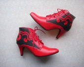 Granny Never Looked this Good Hand Painted Boots Sz 9