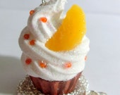 Orange Cupcake Necklace - Made to Order