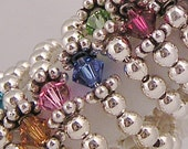 Sterling silver small birthstone rings