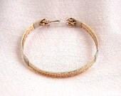 Tricolor bracelet 2 - rose gold fill, gold fill and sterling silver wire wrapped bracelet