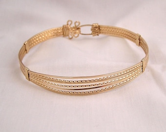 Classic gold - gold fill wire wrapped bracelet