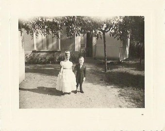 Vintage 1960s wedding childrens photographie