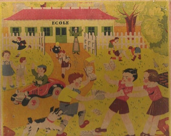At school 1930 antique part of a game 30s