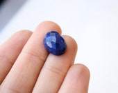 Faceted Lapis with Pyrite Oval Cabochon 14mm x 10mm