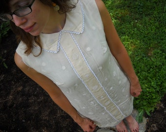 vintage cream summer dress