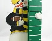 Pattern to paint the Football Snowman Jumbo Clothespin - PDF - JB029EP
