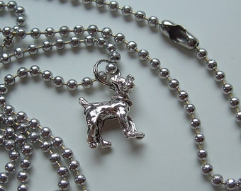 Jack Russell Terrier Charm Necklace silver pewter leather or chain USA-made lead-free