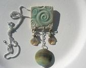 Porcelain Wave Necklace