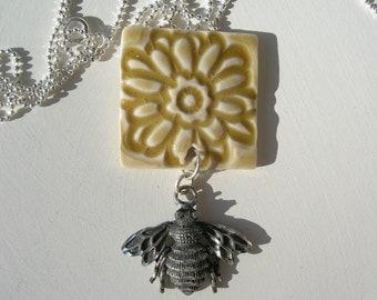 Get The Buzz Porcelain Tile Necklace
