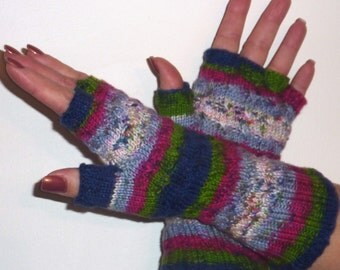 PATTERN (PDF) for Handknit Wavy Cable Fingerless Gloves