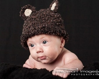 Baby Bear Hat Knitting PDF Pattern
