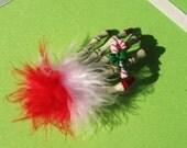 Zombie Skeleton Hand Christmas Hair Clip