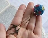 Globe Charm Necklace - 'Around the World'
