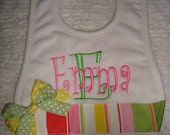 Design Your Personalized Bib - Emma Personalized Bib - with Name or up to 3 initials